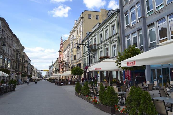 Lodz Center is right here - Łódź