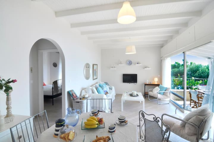 Beachfront house with 2 bedrooms - Corfú - Casa
