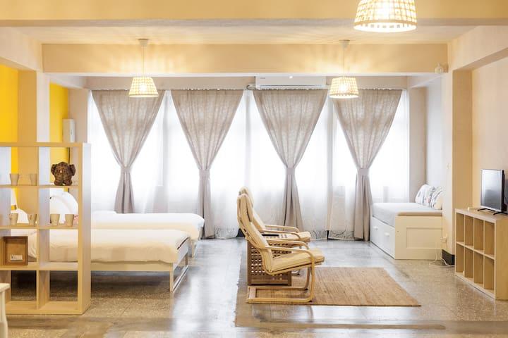 Patio Apartment 天井公寓_溫暖旅人家庭房 - Shilin District - Appartamento