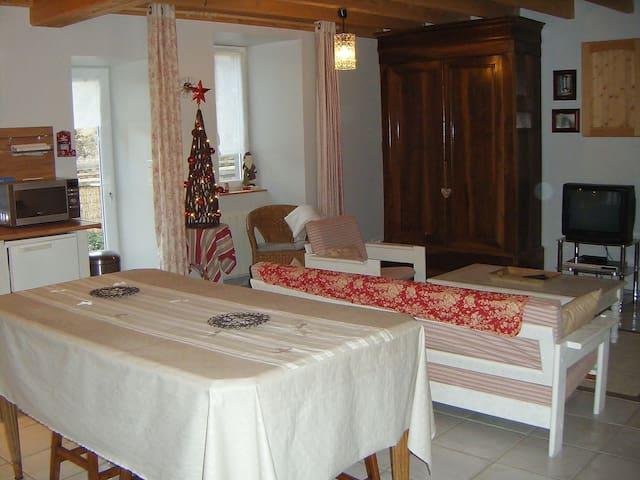 Chaleureuse petite maison au cœur des volcans - Aurières - Huis