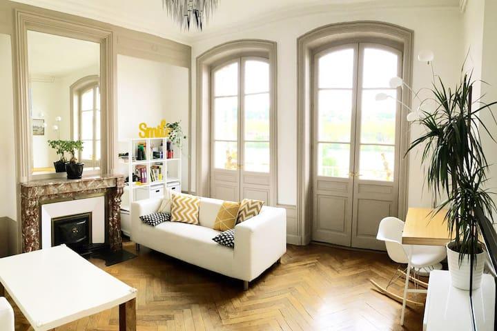 Maison avec vue sur Saône et jardin - Albigny-sur-Saône - Huis