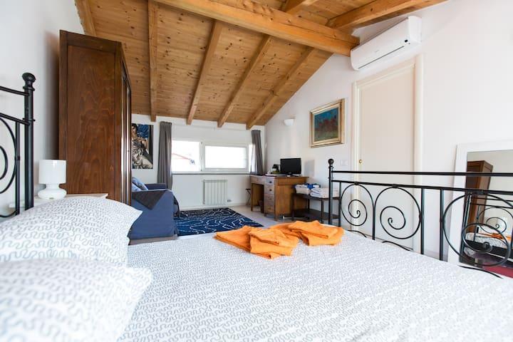 Attic Room with En-suite Bathroom - Milan - Villa