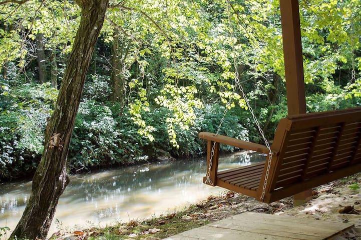 Cozy cabin on the beautiful Tallulah River. - Lakemont - Stuga