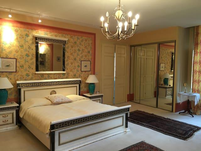 Une chambre confortable au château de Maizières - Saint-Loup-Géanges - Slott