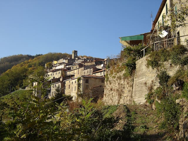 Charming apartment, beautiful view - Boveglio - Appartement