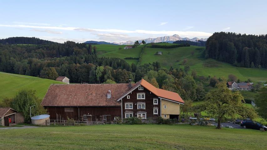 Wohnung in Appenzeller Bauernhaus am Südhang. - 黑裡紹(Herisau)
