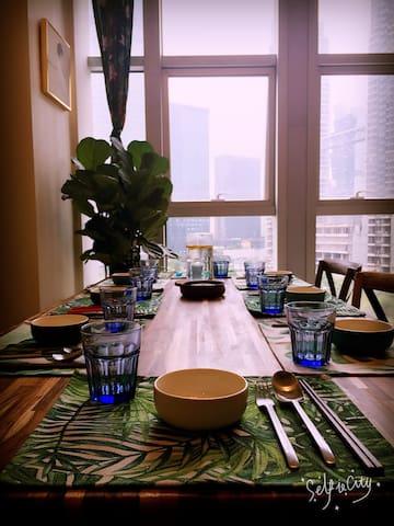 迪荡CBD·一所看得见白鹭的房子 - 绍兴 - Lägenhet