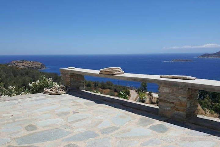 Aegean Blue Panorama House! - Petries - Huis