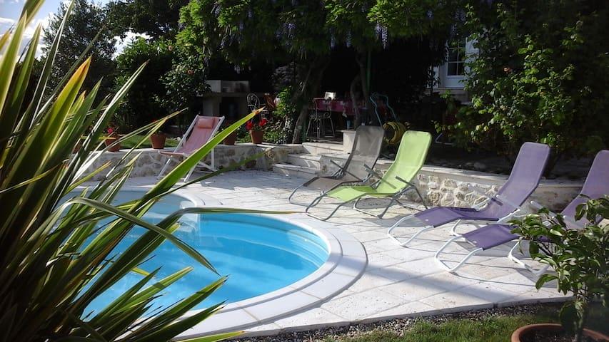 Calme champetre chambre rose Venise - Sainte-Bazeille - Inap sarapan