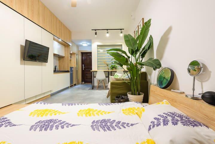 『IVY Home』江景公寓,日式现代设计感出门洋湖湿地公园 - 长沙 - Huoneisto