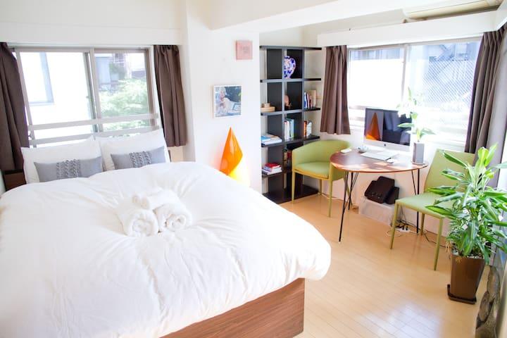 Central, stylish, light & new! - Meguro-ku - Apartament