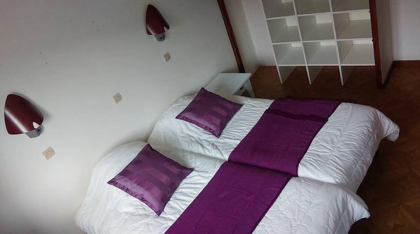 pink room in chalet Pelozet in 3 vallee - Saint-Martin-de-Belleville - Chalet