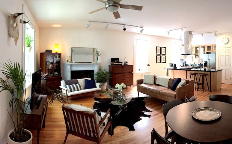 Mid Century Modern Flat in CWE by the Basilica - St. Louis - Osakehuoneisto