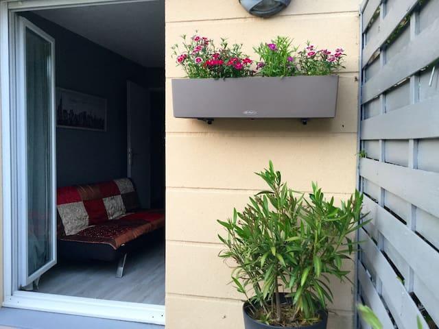 Jolie chambre avec terrasse ensoleillée - Mantes-la-Ville - Lyxvåning