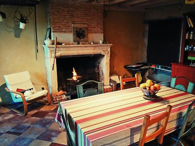 Grande maison de campagne équipée - Cardan - Casa