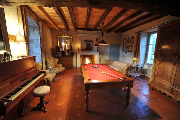 Grand + petit gite du presbytere - Saint-Martin-de-Sanzay - Huis
