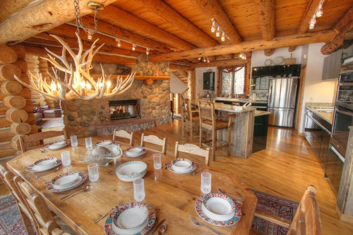 Best location in Telluride?  4 bedroom 6,500 sqft log ski-in/out home. - mountain village