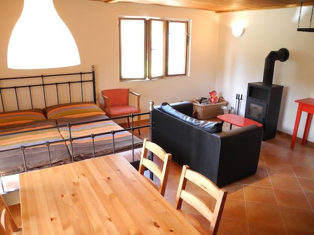 Zrekonstruovaná chata na Slapech