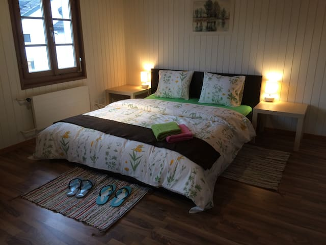 Ze Farmhouse Apt I, 2 BR + bathroom, sleeping 5 - Adligenswil - 公寓
