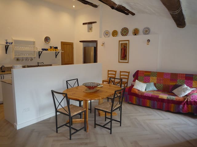 2-bed apartment in stone farmhouse close to Ceret - Reynes - Apartemen