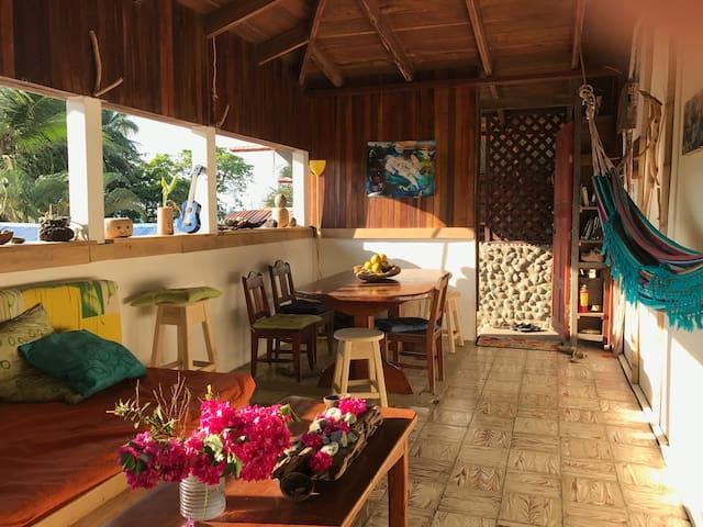 Private room with view to nature R3 - Pavones - Casa de huéspedes