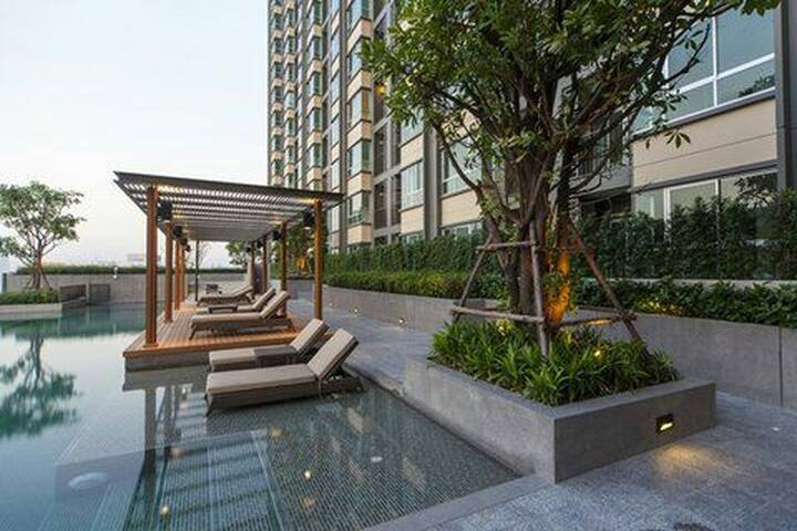 Cozy private 1b Near sky train - Bangkok - Apartmen