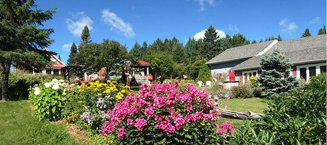 Aux jardins des Trois-Maisons/Déj.inclus - Gîte - Sainte-Lucie-des-Laurentides - Bed & Breakfast