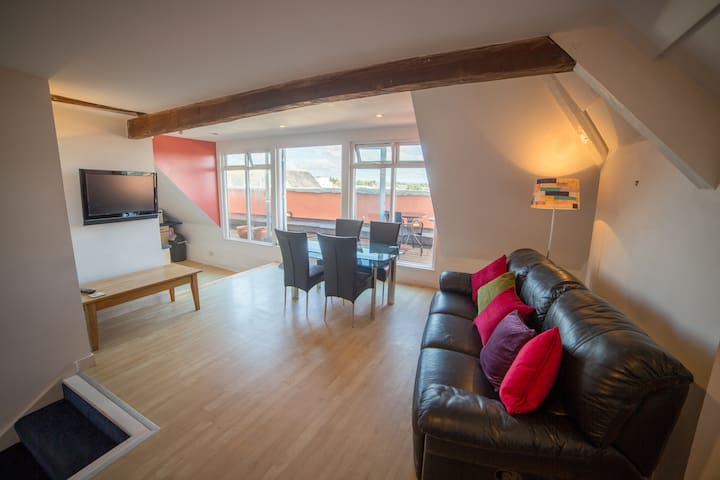 Panoramic views of City, Cathedral and River Exe - Exeter - Daire