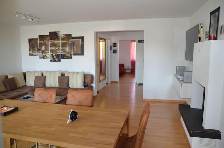 Eine schöne Wohnung mit Parkplatz, Cheminée, WLAN - Wil - Pis