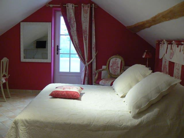 Chambre d'hôtes de charme entre Saumur, Doué la F. - Les Ulmes - Bed & Breakfast