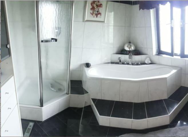 Zimmer mit neuem Marmorbad - Regenstauf - Ev