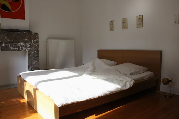 Spacious room with private kitchen and 2 bicycles - Anvers - Ev