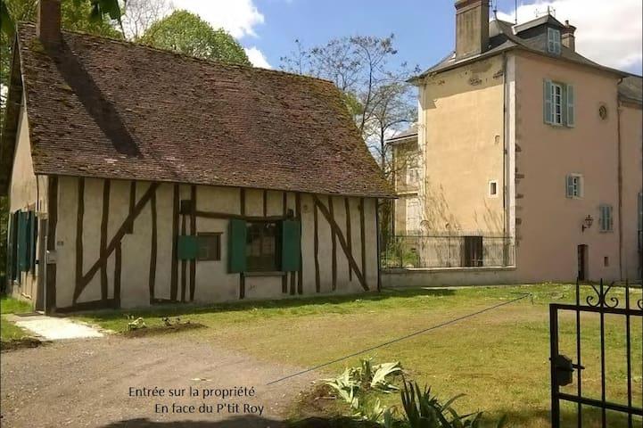 La Tour du Roy, 120m2, 2 bedrooms, park - Villeneuve-sur-Allier - Hus
