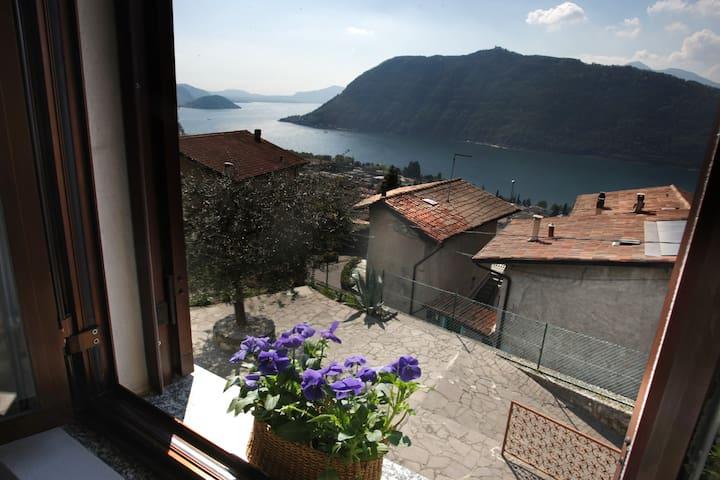 Flat on the hill facing Iseo Lake - Sale Marasino - Apartamento