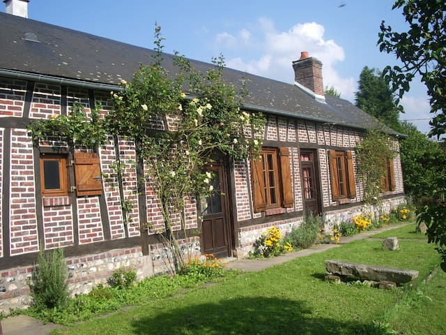Les Aubépines, traditional Normandy colombage - Saint-Hellier - Hus