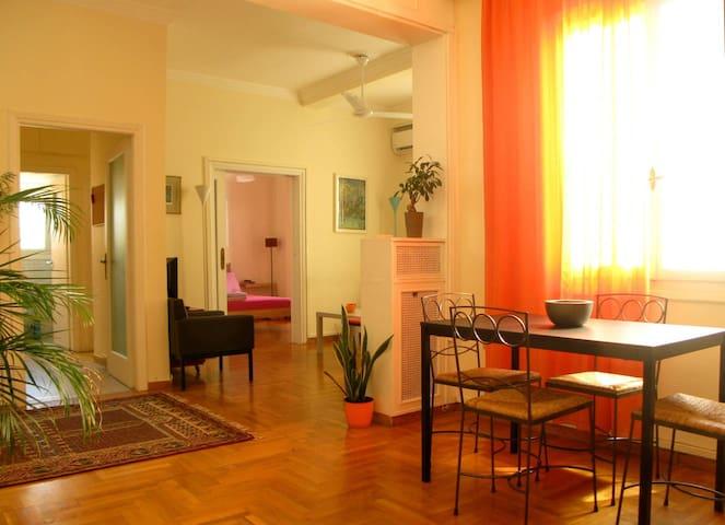 """Bright 3 bedroom apt at """"Megaron"""" metro station. - Kentrikos Tomeas Athinon - 公寓"""