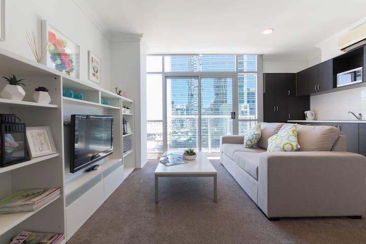 Cozy, elegant apartment central CBD - free WiFi - 珀斯 - 公寓
