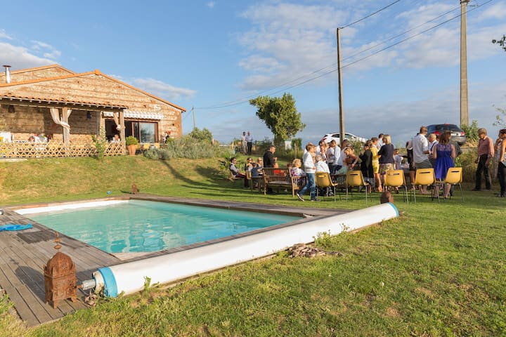 Renovated farm-typical of the region-swimming pool - Auragne - Huis