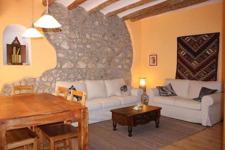 Cal Pedret, precioso apartamento en casa antigua - Riudecanyes