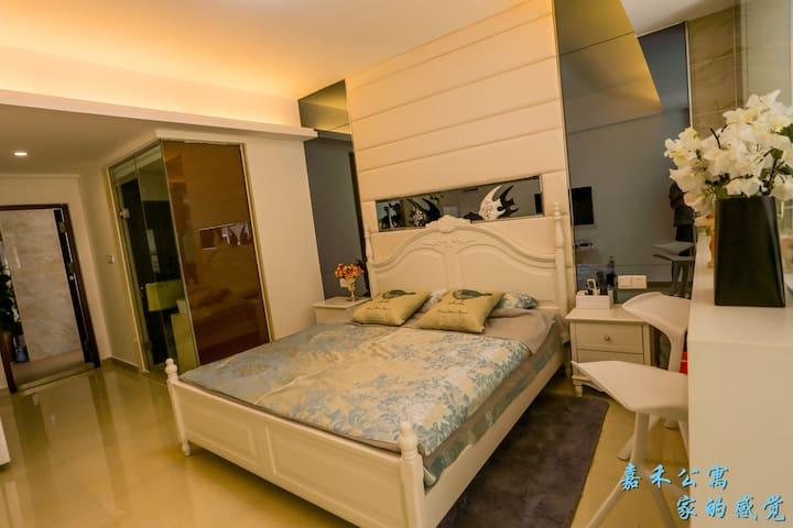 三亚嘉禾公寓温馨大床房 - Sanya - Apartament