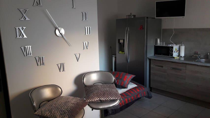 Studio cosy avec terrasse piscine et barbecue. - Baillargues - Overig