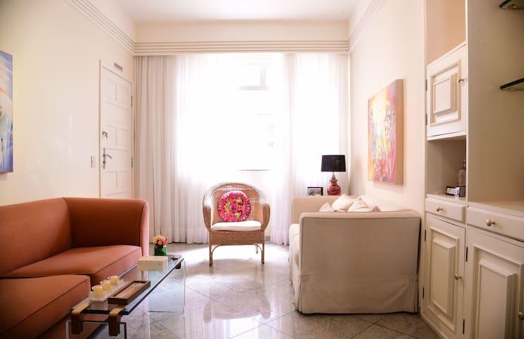 Lindo/seguro apê em BH, Safe/beautiful apt in BH - Belo Horizonte - Lägenhet
