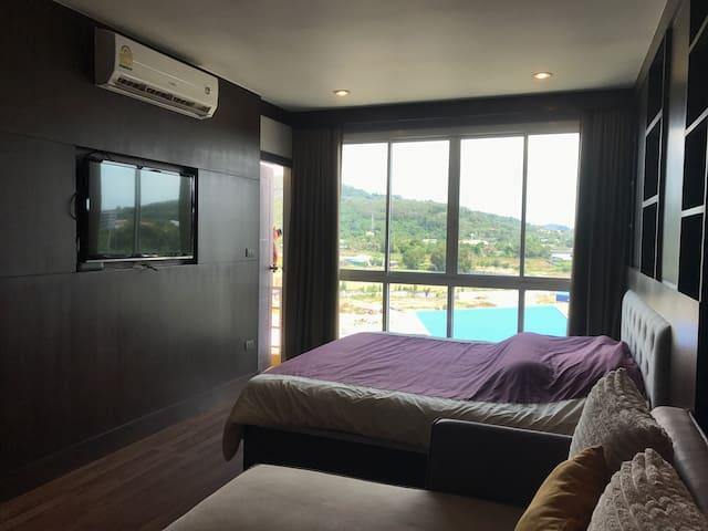 Gorgeous QUIET Studio Apt Nr Tiger Muay Thai camps - Chalong