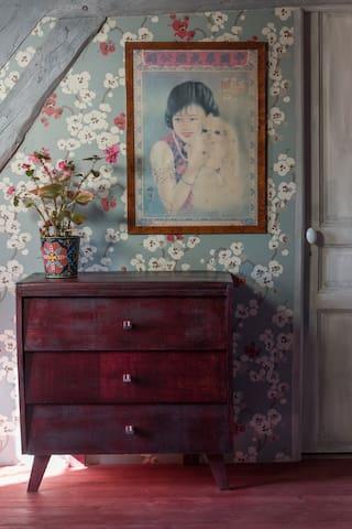 la chambre aux cerisiers - Pressagny-l'Orgueilleux - Bed & Breakfast
