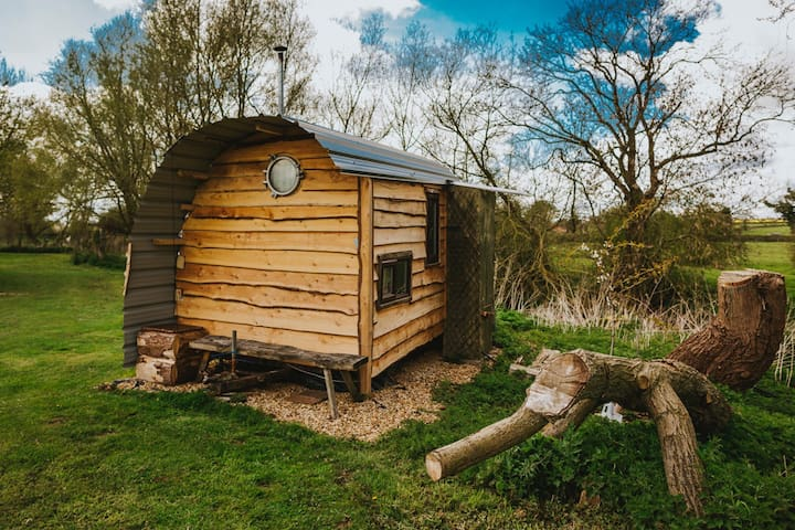 Tiny House Trailer by quiet river - Brooksby - Hut
