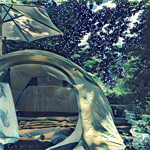Палатка в саду под звёздами - Икша