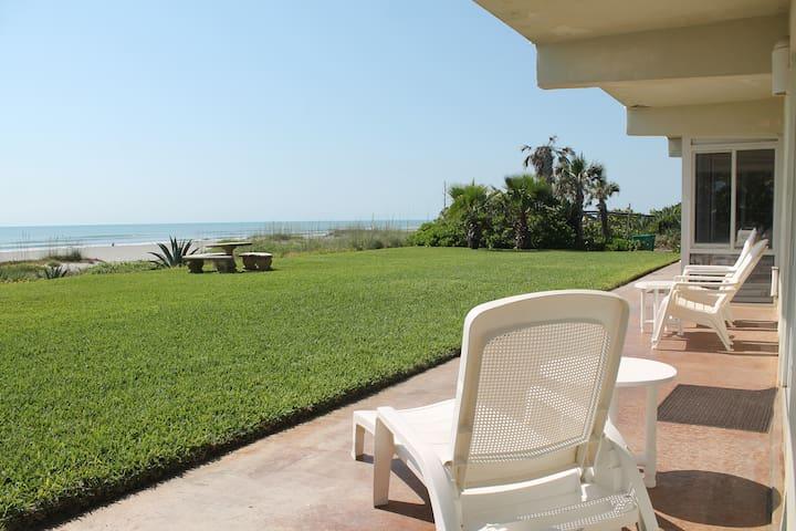 Direct Oceanfont Beach Villa - Unit #1 - Cocoa Beach