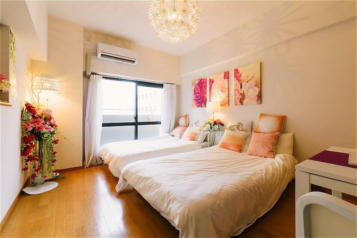 Elegant Apartment near HakataSTA Easy Access +WiF - Hakata-ku, Fukuoka-shi - Huoneisto