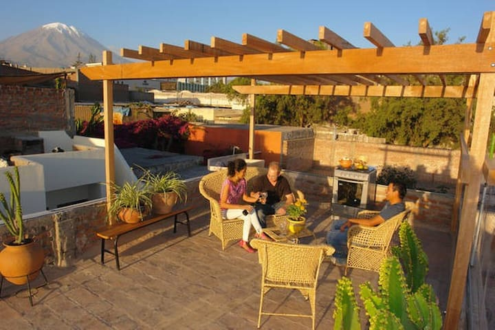 Amazing terrace & views-Arequipa 2R - Arequipa - Casa