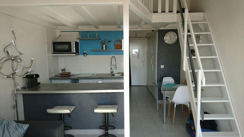 Studio tout équipé - Le Barcarès - Lägenhet